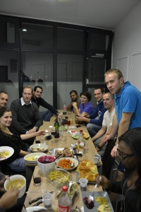 Global MBA students enjoying a Thanksgiving dinner