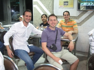 Julian with his International Immersion Project team in Cairo, Egypt